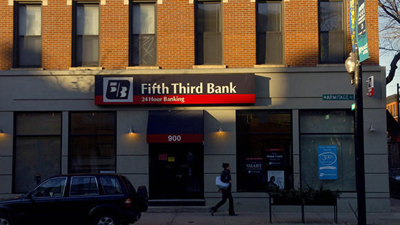 A Fifth Third Bank location on Armitage Ave. in Chicago.