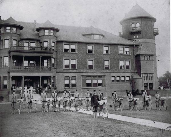 Northwest Military Academy in Highland Park, circa 1890.