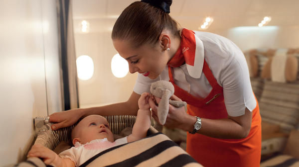 An Etihad Airways nanny