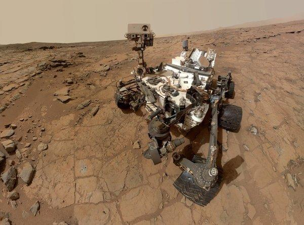 The Mars Curiosity rover poses for a self-portrait. Michael Eisen liberated it from publishing prison.