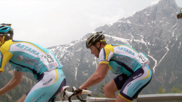 "Cyclist Lance Armstrong in an image from Alex Gibney's documentary ""The Armstrong Lie."""