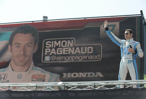 Simon Pagenaud is introduced at the 2013 Grand Prix of Baltimore.