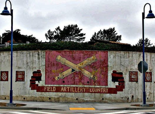 Military era murals at Cal State Monterey Bay are evidence that the campus was once part of Ft. Ord.