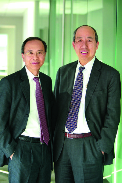 The California bank with the greatest remaining debt, L.A.'s Cathay General Bancorp, said last week that it had paid its TARP funding in full. Above, Dunson K. Cheng, left, CEO of Cathay General and its Cathay Bank, is joined by Peter Wu, executive vice chairman and chief operating officer.