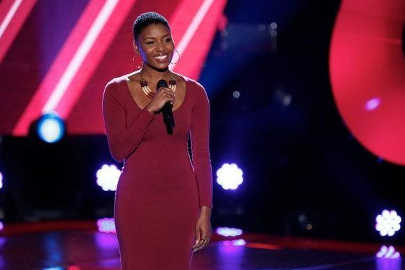"Contestant Tamara Chauniece on ""The Voice"""