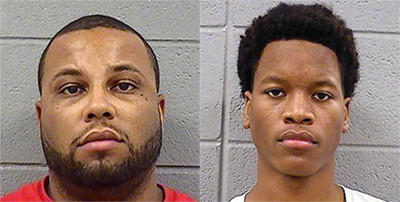 Brian Johnson (left) and Destyne Butler have been charged with residential burglary.