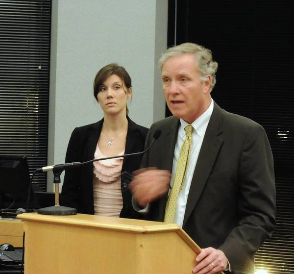 Timothy Doron and Kelly Connolly of Gewalt Hamilton report Monday on the results of a downtown parking study.
