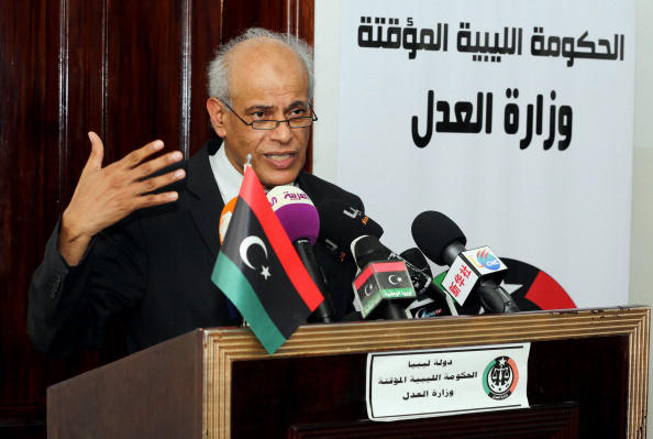 Libyan Justice Minister Salah al-Mirghani attends a press conference in Tripoli on October 8, 2013, on the capture by American forces of Al-Qaeda operative Abu Anas al-Libi earlier in the week. Mirghani summoned US Ambassador Deborah Jones to answer questions about the operation as Libi is reportedly being held aboard a US naval ship in the Mediterranean, where he is being interrogated about Al-Qaeda's future plans in Libya and elsewhere.