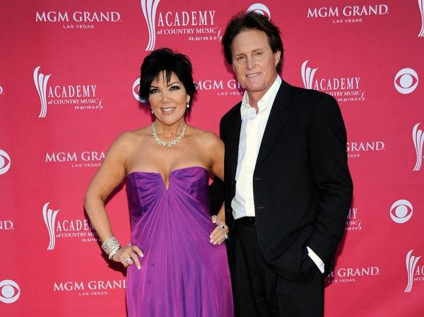 Kris and Bruce Jenner, shown here at the April 2009 Academy of Country Music Awards in Las Vegas, have confirmed that they separated about a year ago. They have been married 22 years.