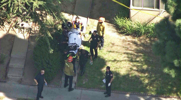 Two women were killed Tuesday in a shooting at an Inglewood apartment complex.