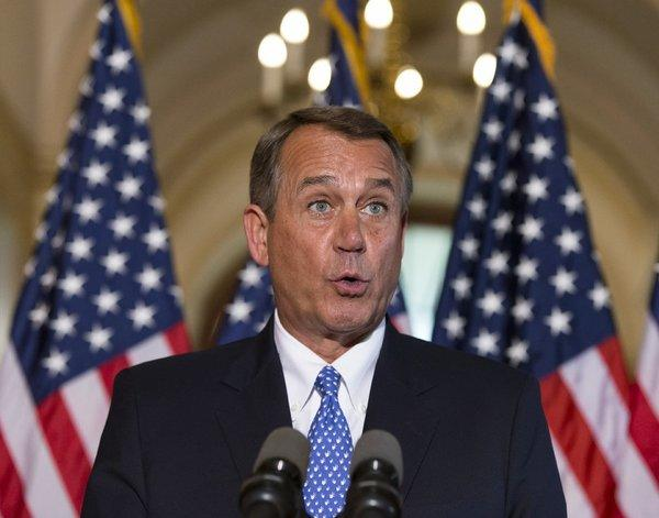 "House Speaker John A. Boehner: ""What, me worry?"" If he doesn't, you should."