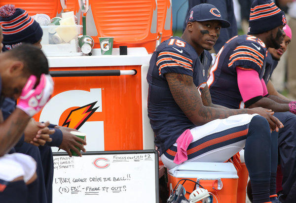 Bears receiver Brandon Marshall says he being paid to be productive.