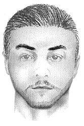 A sketch of a man authorities say harassed two underage girls at a Temecula park.