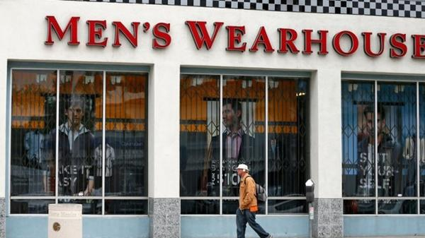 Men's Wearhouse rejected a takeover bid from Jos. A. Bank on Wednesday.