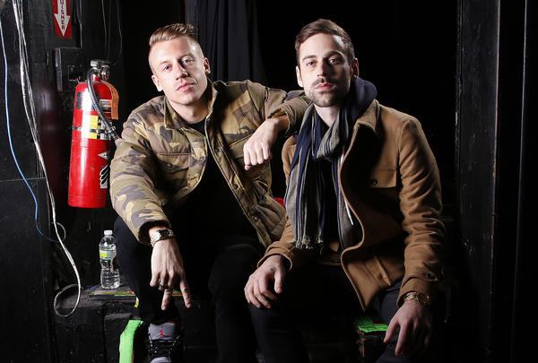 Ben Haggerty, better known by his stage name Macklemore, left, and his producer, Ryan Lewis, are among the performers announced for the Grammy Award nominations concert Dec. 6 in Los Angeles, along with Drake, Robin Thicke and Keith Urban.