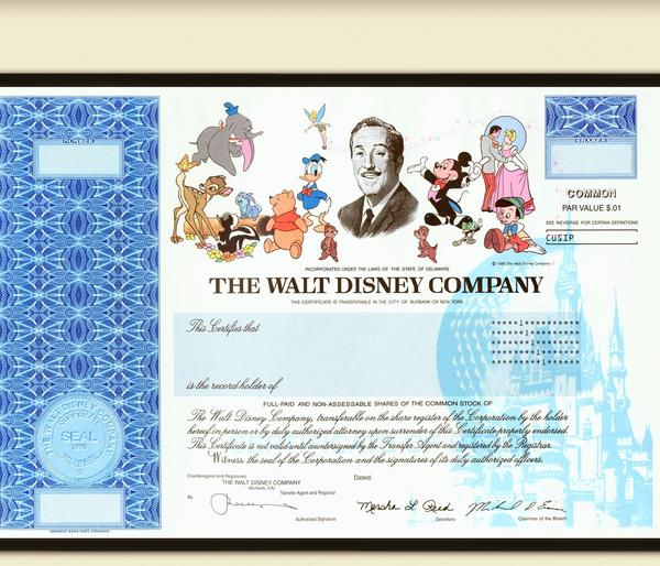 Disney To Stop Offering Paper Stock Certificates Latimes