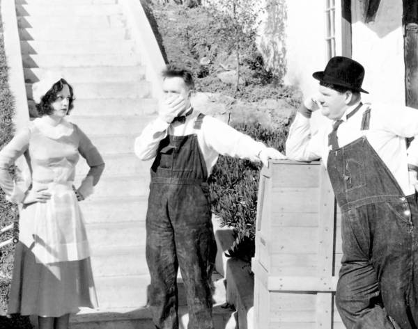 "Stan Laurel and Oliver Hardy starred in ""The Music Box."""