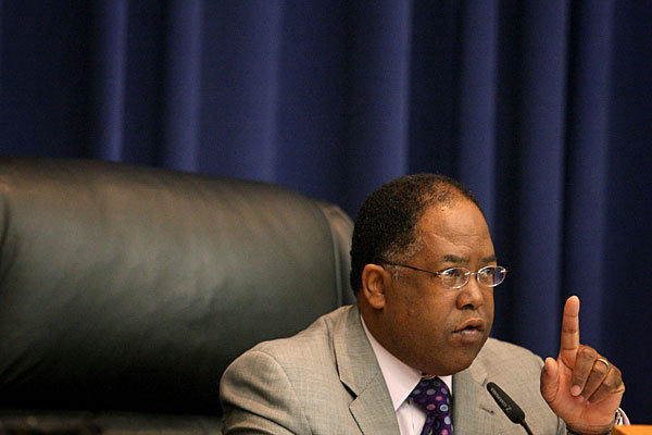 In voting against approving the budget, L.A. County Board of Supervisors Chairman Mark Ridley-Thomas, shown in September, voiced concerns about how capital project and maintenance money would be spent.