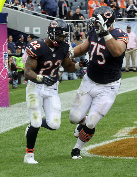 Expect to see a lot of Bears touchdown celebrations during Thursday's game against the Giants.