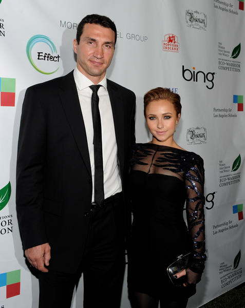 Wladimir Klitschko and actress Hayden Panetierre attend the Earth Day celebration and screening of Avatar.