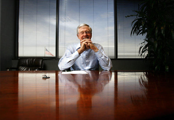 Charles Koch, chairman of the board and chief executive officer of Koch Industries, in his office in Wichita, Kan.