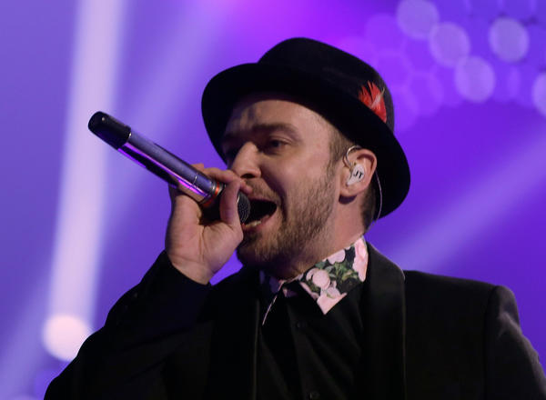 Singer/actor Justin Timberlake performs onstage during the iHeartRadio Music Festival at the MGM Grand Garden Arena in September 2013.
