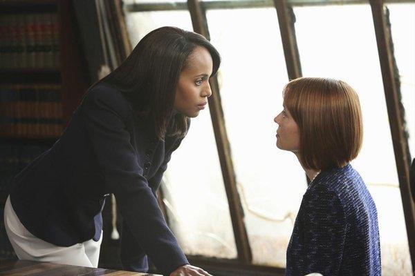 "Kerry Washington and Samantha Sloyan in ""Scandal."""