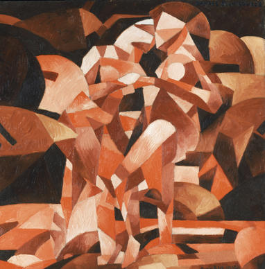 "Francis Picabia (French, 1879-1953), ""Dances at the Spring,"" 1912. Oil on canvas, 47 7/16 x 47 1/2 inch. Philadelphia Museum of Art, the Louise and Walter Arensberg Collection."