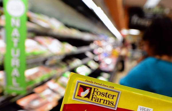 Grocery chain Kroger, which operates Ralphs and Food 4 Less, said this week that it was pulling chicken from the three Foster Farms plants off shelves.