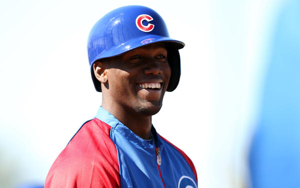 Jorge Soler during spring training at Fitch Park in Mesa, Arizona.