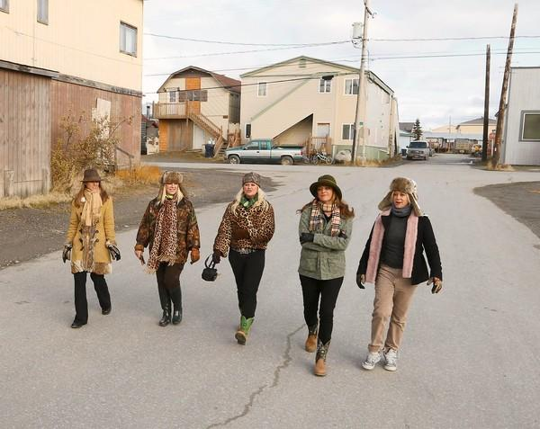 Sarajane and her four daughters walk the streets of Nome, Alaska. A show that chronicles their efforts to re-open the mines that their family inherited nearby premiers on Animal Planet on Thursday.