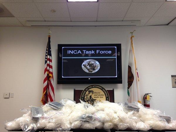 Drugs seized by the Inland Crackdown Allied task force.