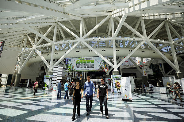 Visitors walk through the Los Angeles Convention Center during the Electric Entertainment Expo in June.