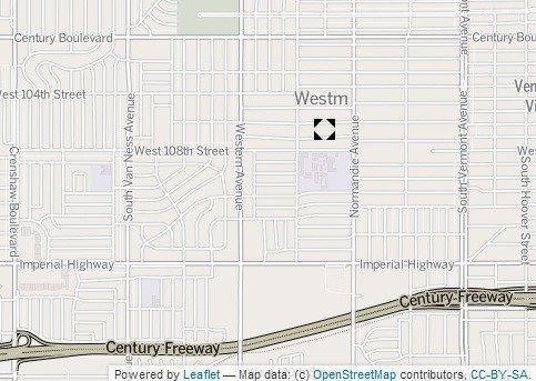 The approximate location of the shooting Wednesday night in the Westmont neighborhood of South L.A.