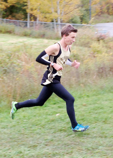 Pellston senior Hunter Kilpatrick finished second overall in 17 minutes, 50.8 seconds Wednesday in leading the Pellston boys cross country team to the Ski Valley Conference championship in Central Lake.