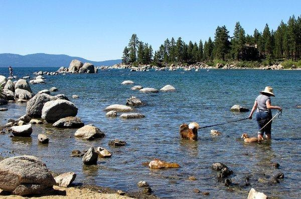 The California Legislature approved a bill last month to preserve the bi-state compact on Lake Tahoe's environmental stewardship that some say is a win for more development-friendly Nevada. The Tahoe Regional Planning Agency disputes that claim. Above, Lake Tahoe in August.
