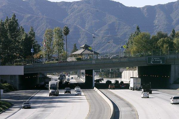 La Cañada Flintridge decided to allow fortunetellers to open in the city. Above, the 210 Freeway in La Cañada.
