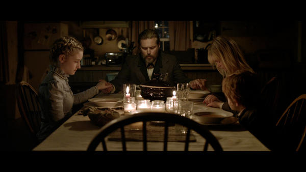 "(L to R) Julia Garner, Bill Sage, Ambyr Childers and Jack Gore in the horror film ""We Are What We Are."""