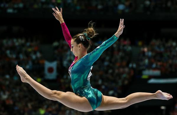 Gymnast Carlotta Ferlito of Italy.
