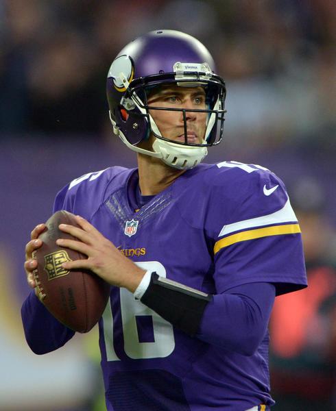Minnesota Vikings quarterback Matt Cassel.