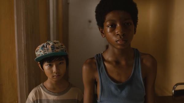 "(L to R)Ethan Dizon and Skylan Brooks in ""The Inevitable Defeat of Mister & Pete."""