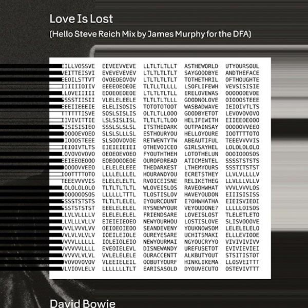 "The cover of a new remix of David Bowie's ""Love Is Lost."" The track was remixed by James Murphy for the DFA, and nods to Steve Reich's ""Clapping Music."""