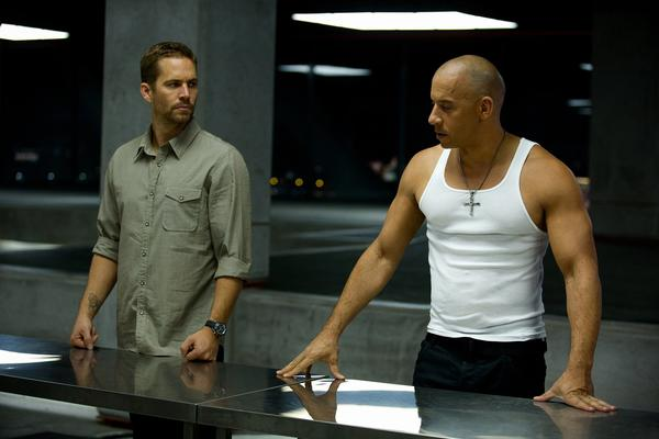 "(L to R) Paul Walker and Vin Diesel reunite for ""Fast & Furious 6."""