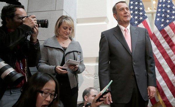 House Speaker John Boehner explains what it's like negotiating in the Bizarro world.