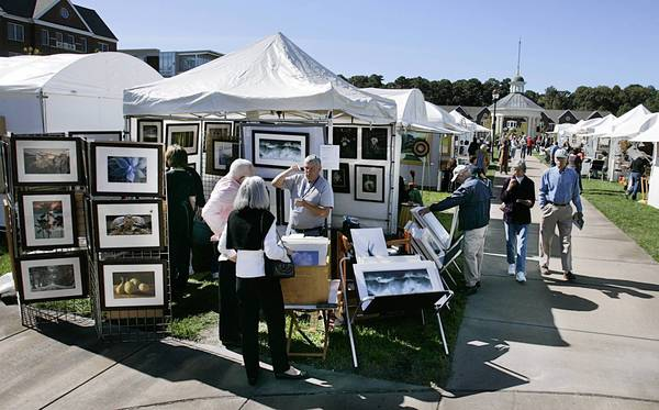 The Port Warwick Art and Sculpture Festival in Newport News' Styron Square will feature paintings, photographs, jewelry, clothing and sculptures by more than 80 artists.
