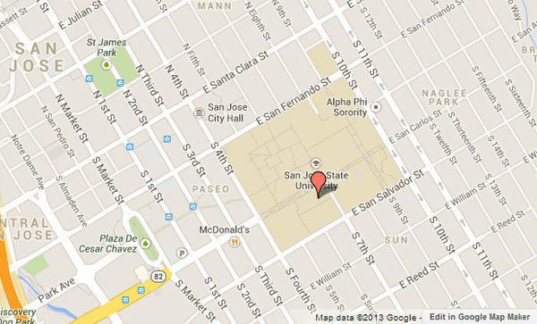 Approximate location of Sweeney Hall.