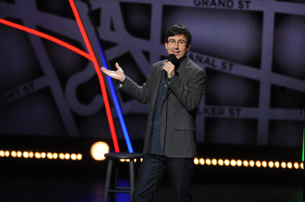 John Oliver performs in New York City.