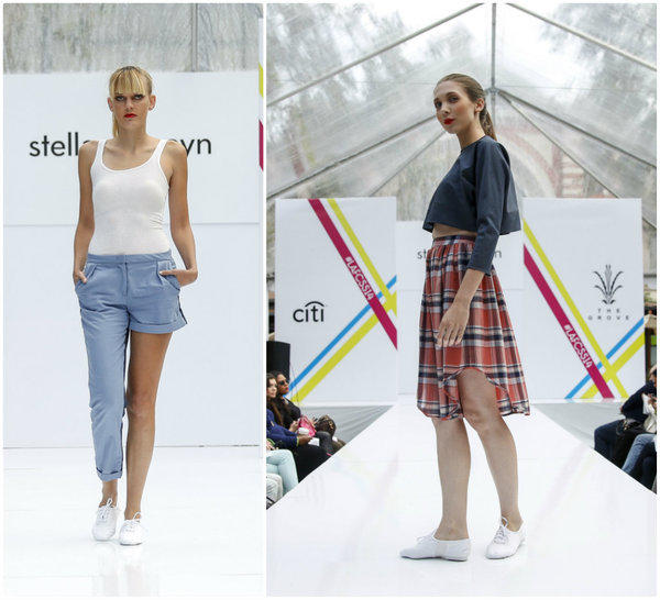 Looks from the Stella Proseyn spring 2014 runway collection shown at the Grove during Los Angeles Fashion Week.