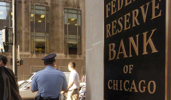 The Federal Reserve Bank of Chicago in August 2004.
