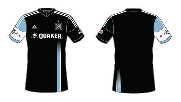 "Freddie Christiano's winning third kit design, titled ""Heart of the City,"" incorporates elements of the Chicago flag and skyline."